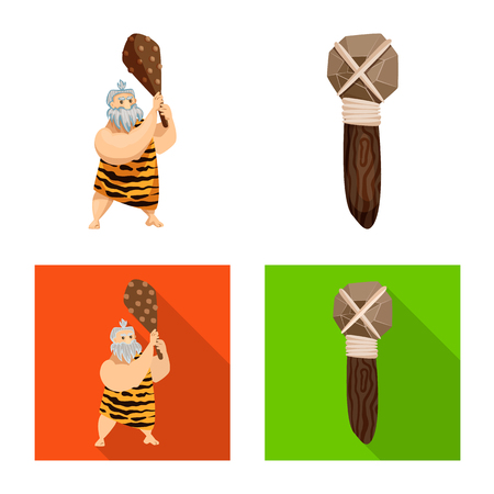 Isolated object of evolution  and prehistory icon. Set of evolution  and development  stock vector illustration.