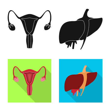 Isolated object of biology and scientific. Set of biology and laboratory vector icon for stock.