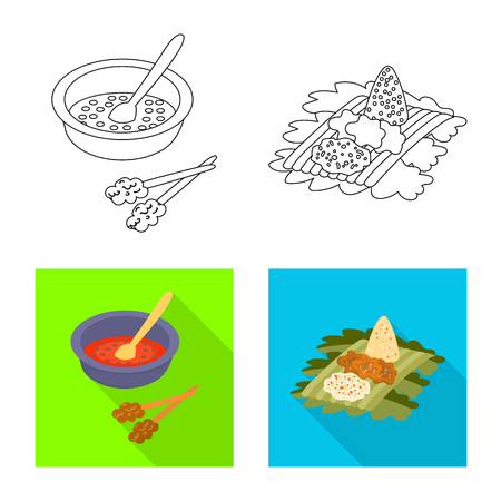 Vector design of  and travel icon. Set of  and traditional stock vector illustration.