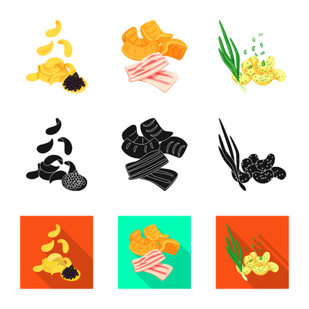 Vector illustration of taste and seasoning sign. Collection of taste and organic vector icon for stock.