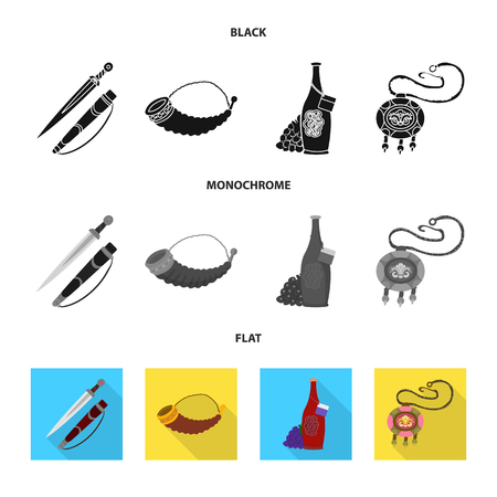 Vector design of culture and sightseeing. Collection of culture and originality stock vector illustration.