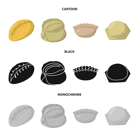 Vector design of products  and cooking symbol. Set of products  and appetizer stock vector illustration.