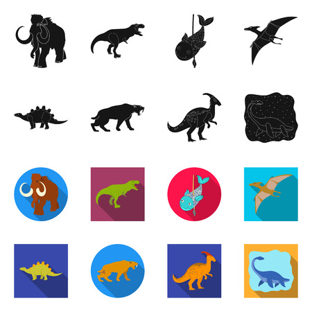 Isolated object of animal and character symbol. Set of animal and ancient  vector icon for stock.