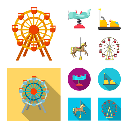 Vector illustration of fun and horse. Collection of fun and circus stock vector illustration.