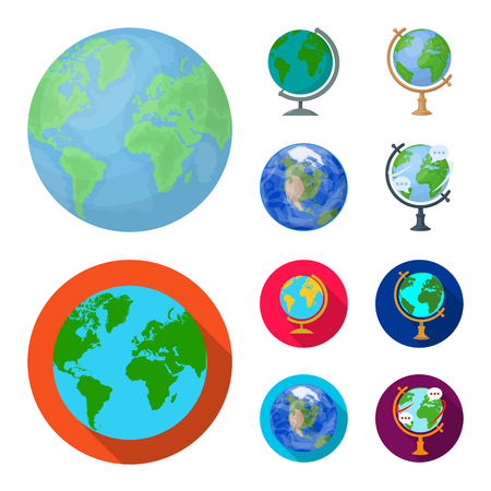 Vector illustration of globe and world. Collection of globe and earth stock vector illustration. Ilustracja
