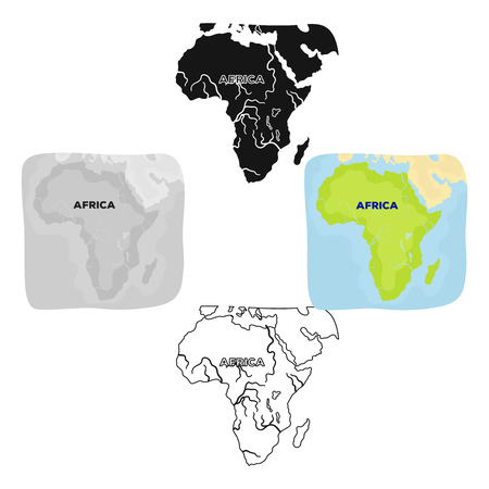 Territory of Africa.African safari single icon in cartoon,black style vector symbol stock illustration web.