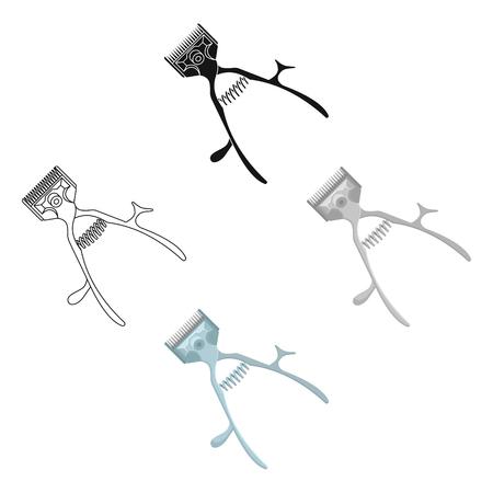 Mechanical hair clipper.Barbershop single icon in cartoon,black style vector symbol stock illustration web. Vektorové ilustrace