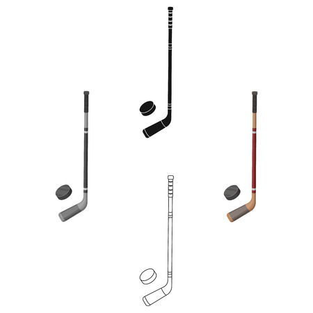 Hockey stick and washer. Canada single icon in cartoon,black style vector symbol stock illustration web.