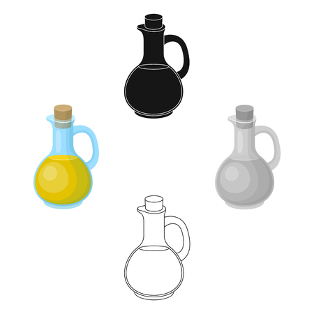 Pitcher with olive oil.Olives single icon in cartoon,black style vector symbol stock illustration web.