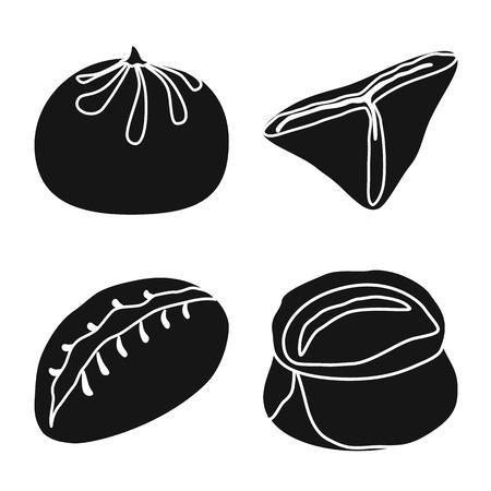 Vector illustration of cuisine  and appetizer sign. Collection of cuisine  and food  vector icon for stock. Ilustração