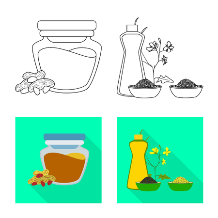 Isolated object of healthy  and vegetable  icon. Collection of healthy  and agriculture stock symbol for web.