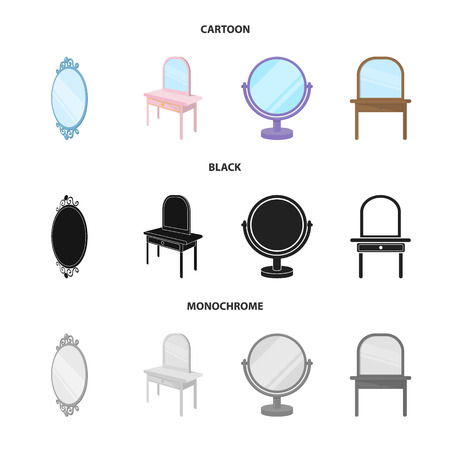 Vector illustration of imagery and decorative icon. Set of imagery and silver vector icon for stock.