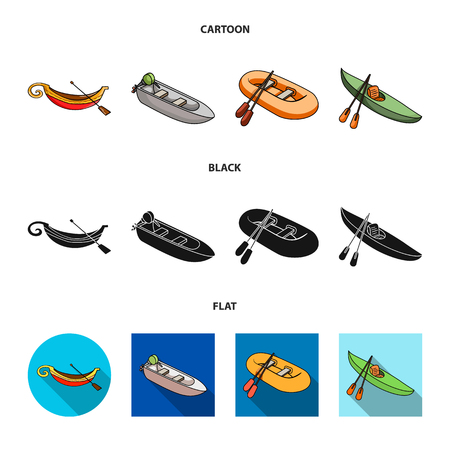 Isolated object of sail and sea sign. Set of sail and regatta vector icon for stock.