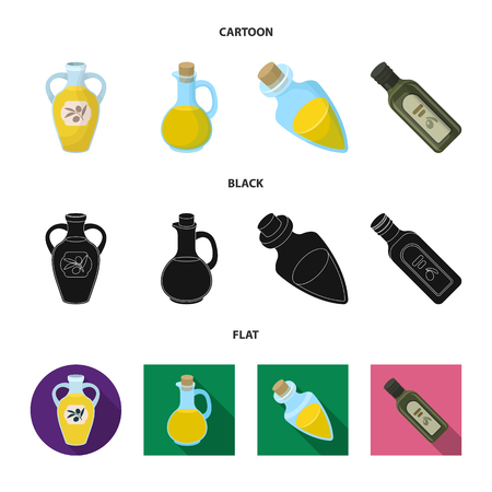 Vector design of food  and bung symbol. Set of food  and oil  stock vector illustration. Иллюстрация