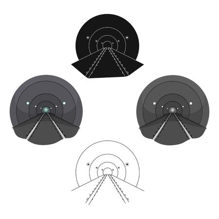 Tunnel, single icon in cartoon,black style.Tunnel, vector symbol stock illustration . Illustration