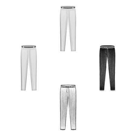 Uniform pants baseball. Baseball single icon in cartoon,black style vector symbol stock illustration .  イラスト・ベクター素材