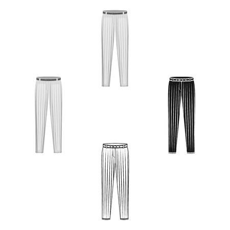 Uniform pants baseball. Baseball single icon in cartoon,black style vector symbol stock illustration . 向量圖像