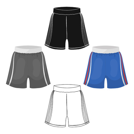 Boxing shorts icon in cartoon,black style isolated on white background. Boxing symbol vector illustration. Ilustração Vetorial