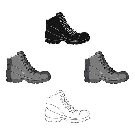 Grey men shoes oxfords. Casual shoes for autumn and spring .Different shoes single icon in cartoon,black style vector symbol stock web illustration.