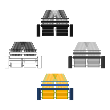 Machinery, single icon in cartoon,black style.Machinery vector symbol stock illustration web.