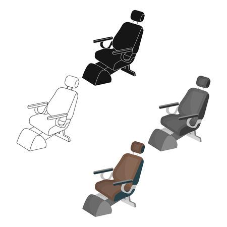 Dentist chair. Medicine single icon in cartoon,black style vector symbol stock illustration web. Illustration