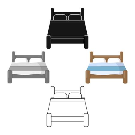 Bed icon of vector illustration for web and mobile Ilustração