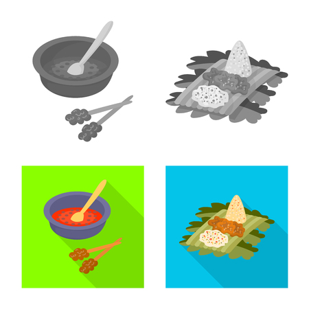 Vector illustration of  and travel icon. Collection of  and traditional stock vector illustration. Ilustração