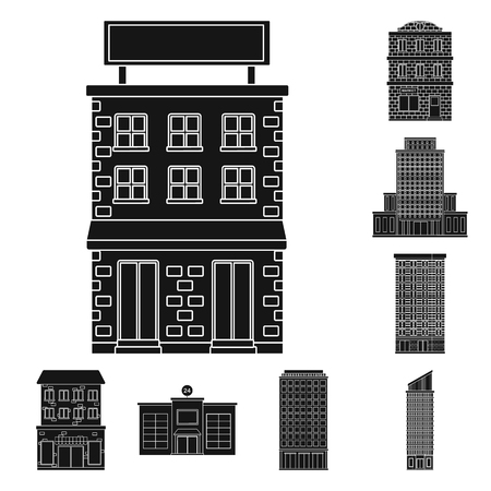 Vector design of modern and estate   icon. Set of modern and building stock vector illustration.