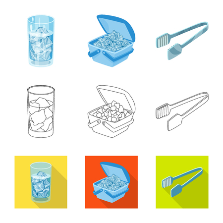 Vector design of texture  and frozen. Collection of texture  and transparent  vector icon for stock.