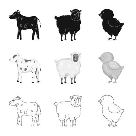 Vector design of breeding and kitchen  symbol. Collection of breeding and organic  stock symbol for web.