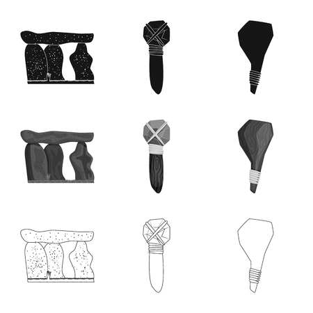 Vector design of evolution  and prehistory symbol. Set of evolution  and development  vector icon for stock. Illustration