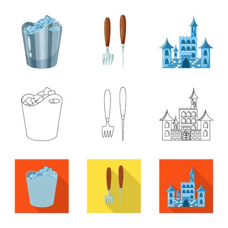 Vector design of texture  and frozen  symbol. Collection of texture  and transparent  stock symbol for web. Ilustração