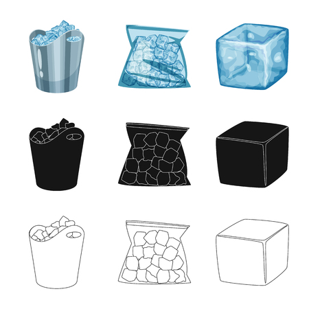 Vector illustration of texture  and frozen  symbol. Collection of texture  and transparent  stock symbol for web.