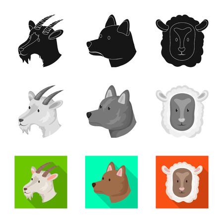 Isolated object of agriculture and breeding icon. Set of agriculture and organic  vector icon for stock. Illustration