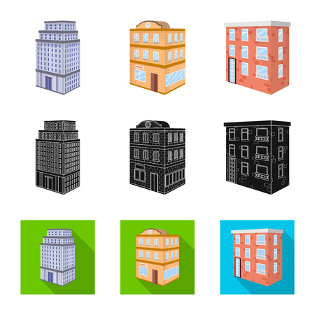 Vector design of construction and building. Collection of construction and estate vector icon for stock.