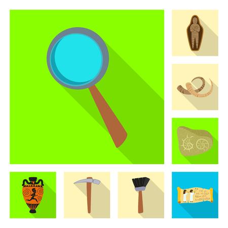 Vector illustration of story and items sign. Collection of story and attributes  stock vector illustration. Ilustração