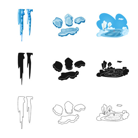 Vector illustration of texture  and frozen  icon. Collection of texture  and transparent  stock symbol for web. Illustration