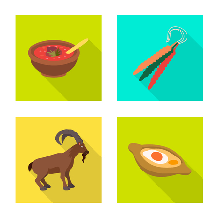 Isolated object of culture and sightseeing icon. Set of culture and originality stock vector illustration.