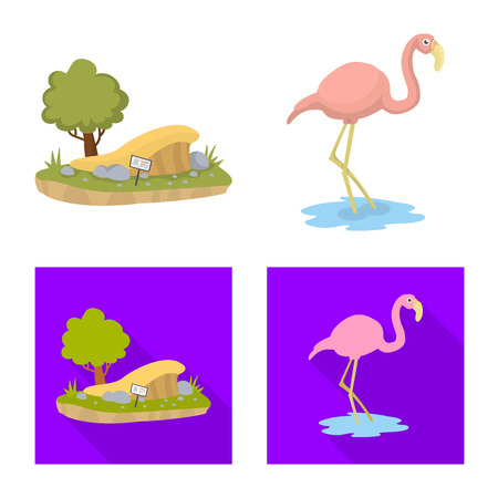 Vector illustration of nature  and fun  sign. Collection of nature  and entertainment stock vector illustration.  イラスト・ベクター素材