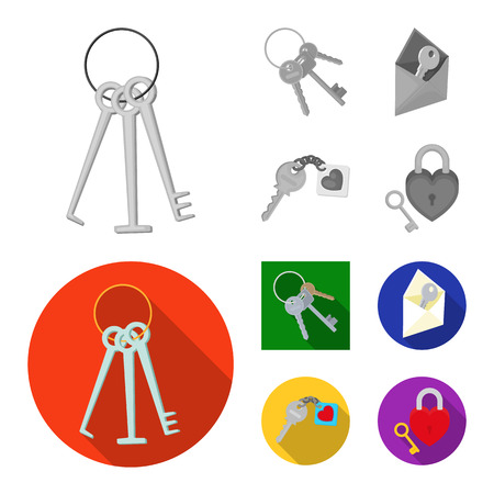 Vector illustration of key  and protection symbol. Set of key  and security vector icon for stock.