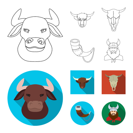 Vector illustration of antler and animal icon. Collection of antler and death vector icon for stock. Illustration