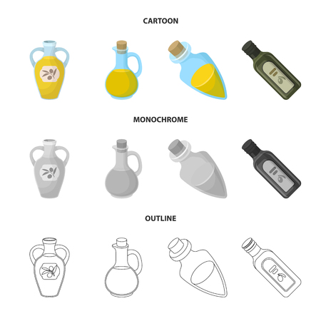Vector illustration of food  and bung icon. Collection of food  and oil  vector icon for stock. Иллюстрация
