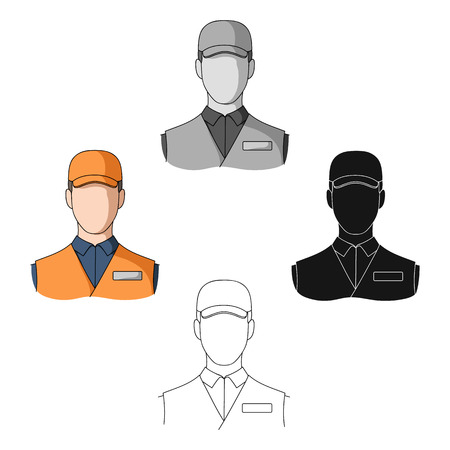 Man single icon in cartoon,black style.Man, vector symbol stock illustration web.
