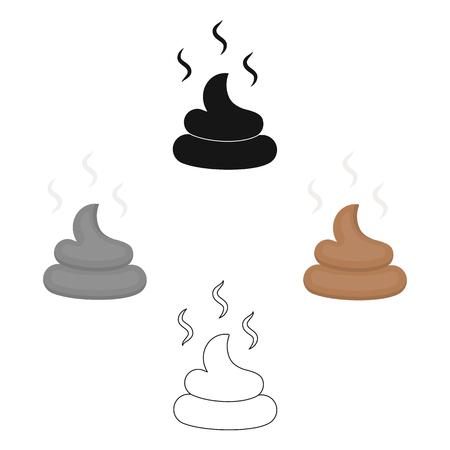 Faeces vector icon in cartoon,black style for web Ilustração