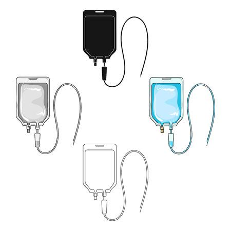 Medicine package.Medicine single icon in cartoon,black style vector symbol stock illustration web. Vector Illustration