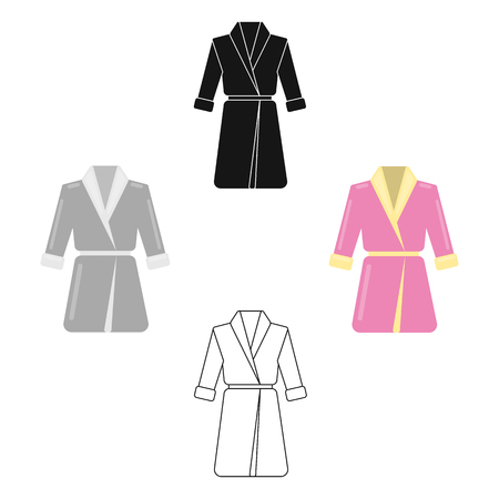 Bathrobe icon of vector illustration for web and mobile Vecteurs