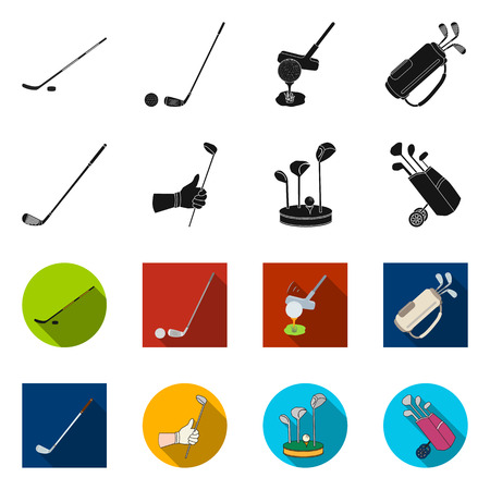 Isolated object of  and stick icon. Set of  and golf  stock symbol for web.