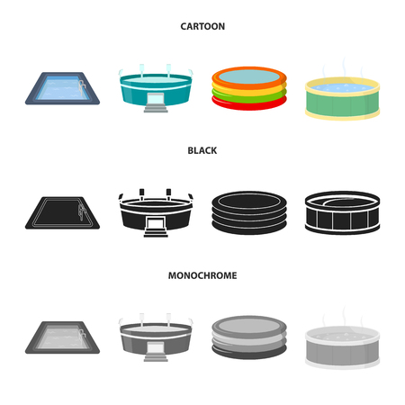 Isolated object of pool and clipart sign. Set of pool and sport vector icon for stock.