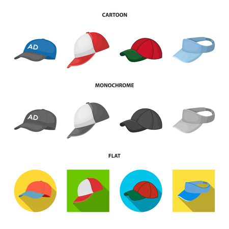 Vector design of sports and baseball symbol. Set of sports and sun stock symbol for web. Çizim