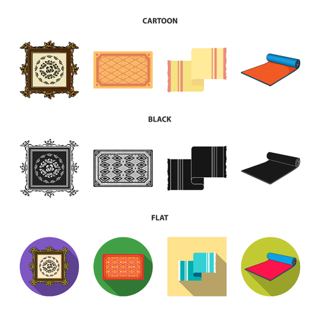 Isolated object of carpet and persian symbol. Collection of carpet and border vector icon for stock.